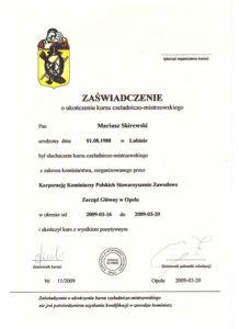 kurs Czeladniczo Mistrzowski